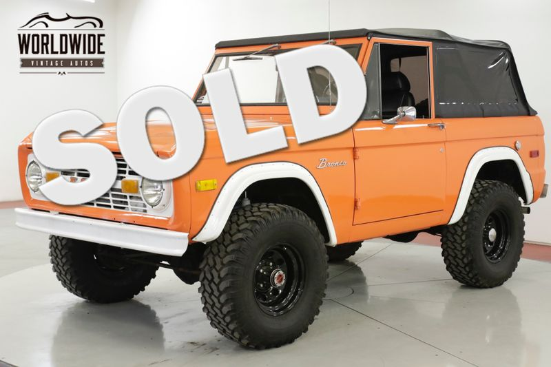 1973 Ford BRONCO V8 302 4X4 PS PB CONVERTIBLE AUTO | Denver, CO | Worldwide Vintage Autos