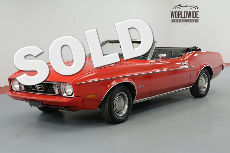 1973 Ford MUSTANG RARE CONVERTIBLE 351 V8 NEW PAINT MUST SEE   Denver, CO   Worldwide Vintage Autos