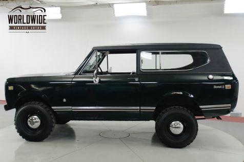 1973 International SCOUT II REMOVABLE TOP V8 PS PB 4x4! STEEL WHEELS    Denver, CO   Worldwide Vintage Autos in Denver, CO