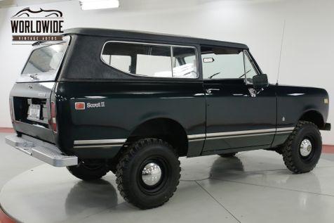 1973 International SCOUT II REMOVABLE TOP V8 PS PB 4x4! STEEL WHEELS  | Denver, CO | Worldwide Vintage Autos in Denver, CO