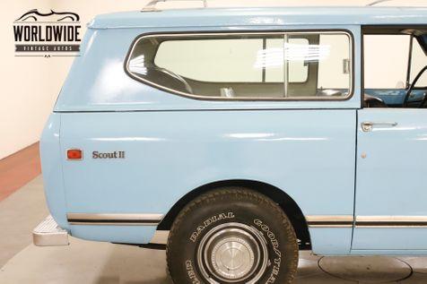 1973 International SCOUT 4X4 PS PB ALL ORIGINAL DELUXE MODEL 58K MI | Denver, CO | Worldwide Vintage Autos in Denver, CO
