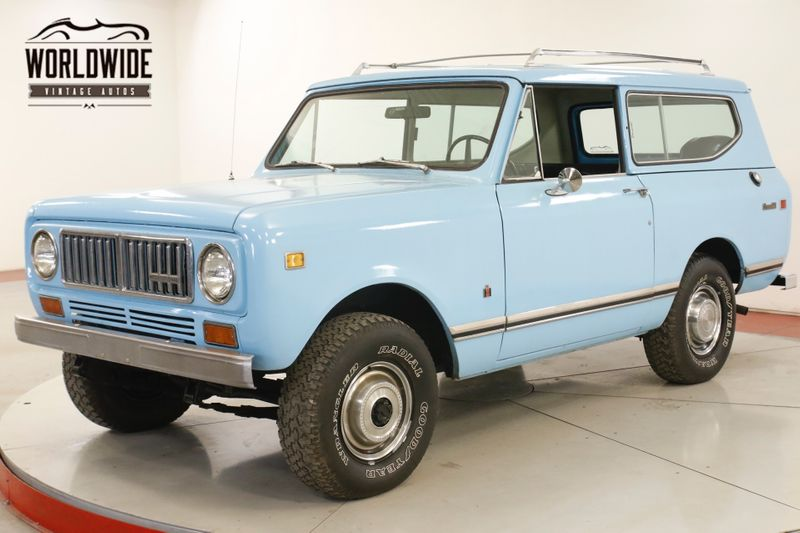 1973 International SCOUT 4X4 PS PB  ORIGINAL DELUXE MODEL 58K MI | Denver, CO | Worldwide Vintage Autos