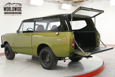1973 International SCOUT  V8 4x4 REMOVABLE HARDTOP NEW PAINT | Denver, CO | Worldwide Vintage Autos in Denver, CO