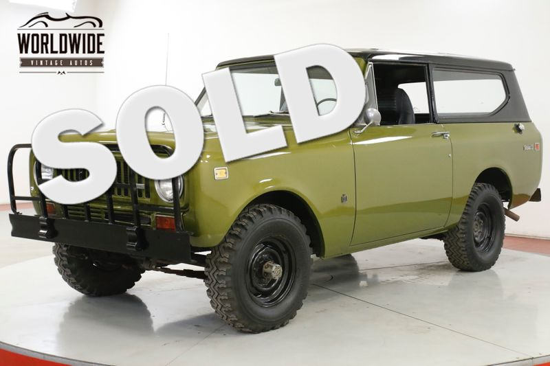 1973 International SCOUT  V8 4x4 REMOVABLE HARDTOP NEW PAINT | Denver, CO | Worldwide Vintage Autos
