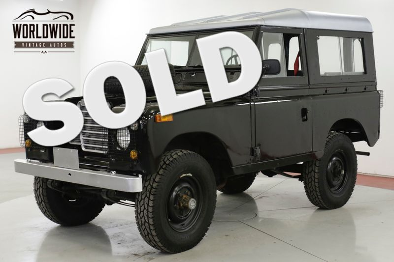 1973 Land Rover SERIES 4x4 CONVERTIBLE SEATS 7 OVERDRIVE DEFENDER  | Denver, CO | Worldwide Vintage Autos