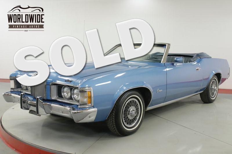 1973 Mercury COUGAR  CONVERTIBLE 351 CLEVELAND V8 AUTO 73K MILES | Denver, CO | Worldwide Vintage Autos