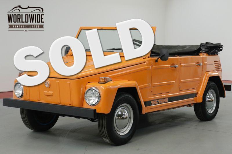 1973 Volkswagen THING  DRY TEXAS CONVERTIBLE. RARE. 44K MILES!    Denver, CO   Worldwide Vintage Autos