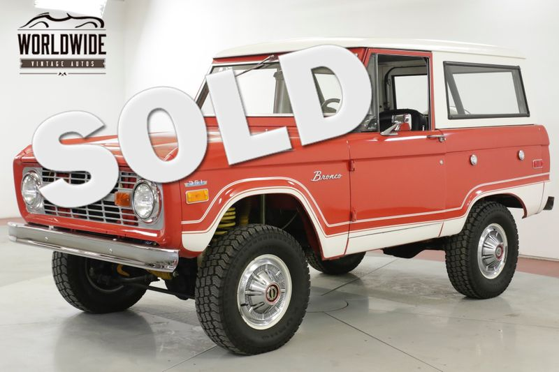 1974 Ford BRONCO EXTENSIVE RESTORED UNCUT 351 V8 PS PB 4X4  | Denver, CO | Worldwide Vintage Autos