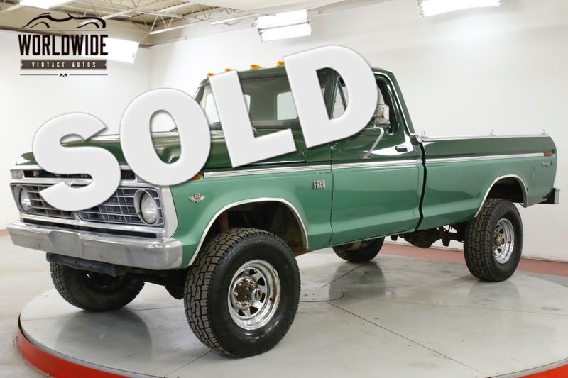 1974 Ford F250 RANGER XLT 390 V8 AUTO 4x4 PS PB MUST SEE | Denver, CO | Worldwide Vintage Autos