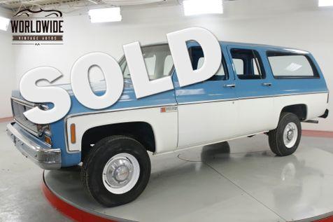1974 GMC SUBURBAN 4x4 COLLECTOR 17K ORIGINAL MILES 1 OWNER    Denver, CO   Worldwide Vintage Autos in Denver, CO
