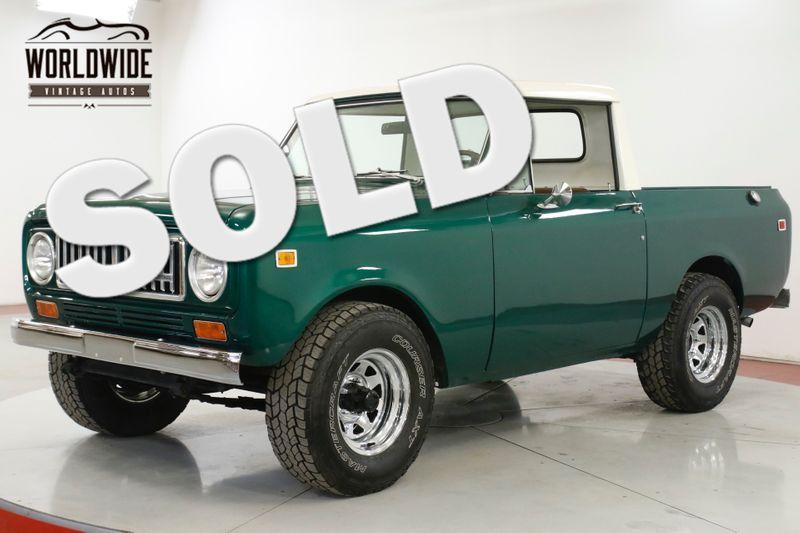 1974 Internaional SCOUT II 345 V8 AUTO 4X4 PS PB FULL HARD TOP | Denver, CO | Worldwide Vintage Autos