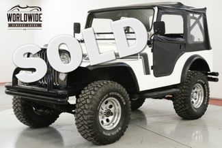 1974 Jeep CJ5 RESTORED CHROME V8 RENEGADE FRONT DISC PS CJ7 | Denver, CO | Worldwide Vintage Autos in Denver CO