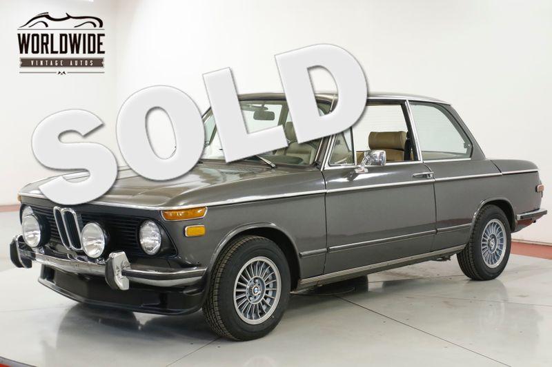 1975 BMW 2002 4-SPEED A/C RECARO SEATS  | Denver, CO | Worldwide Vintage Autos