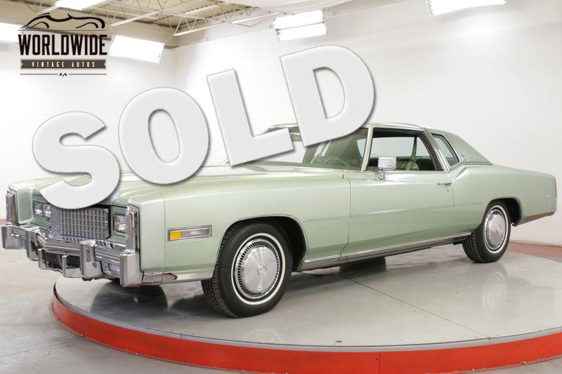 1975 Cadillac ELDORADO 7,974 ORIGINAL MILES! 500 V8 AUTO COLLECTOR | Denver, CO | Worldwide Vintage Autos