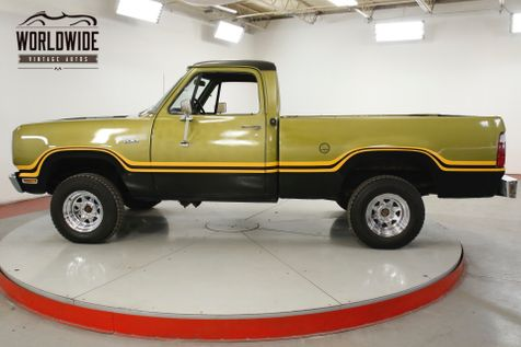 1975 Dodge POWER WAGON W100 4x4 V8 PS PB SHORTBED 1 OWNER SINCE NEW  | Denver, CO | Worldwide Vintage Autos in Denver, CO