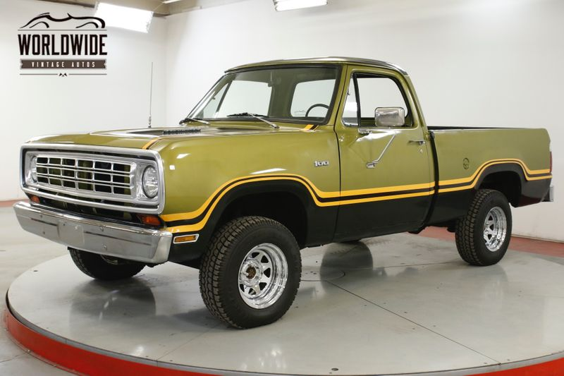 1975 Dodge POWER WAGON W100 4x4 V8 PS PB SHORTBED 1 OWNER SINCE NEW  | Denver, CO | Worldwide Vintage Autos