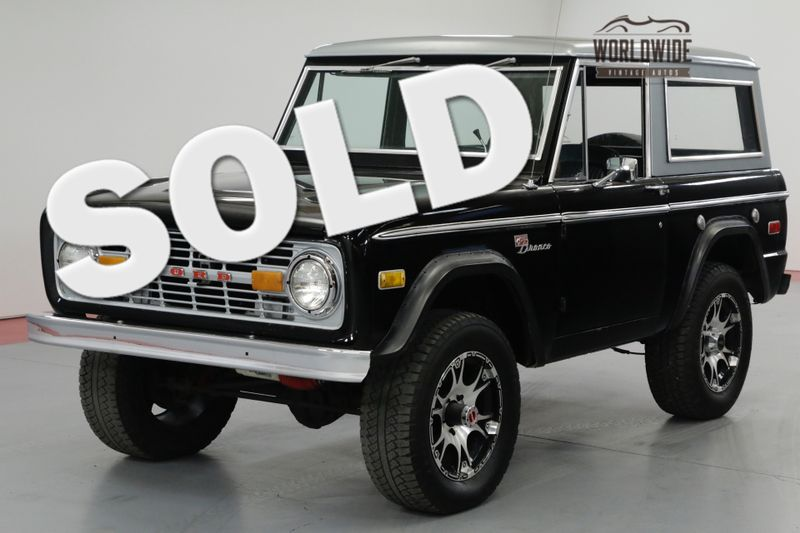1975 Ford BRONCO  SPORT 4x4 CONVERTIBLE. LOW MILES. V8! AUTO! | Denver, CO | Worldwide Vintage Autos