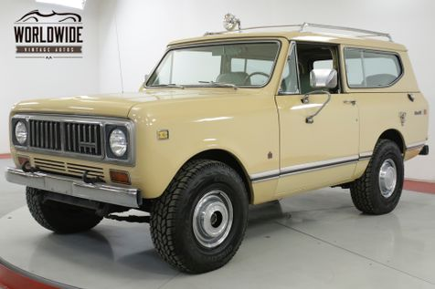 1975 International SCOUT  CA TRUCK 345 V8 FUEL INJECTED AC AUTO 4x4 | Denver, CO | Worldwide Vintage Autos in Denver, CO