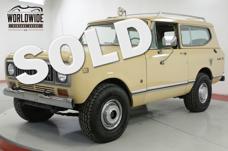 1975 International SCOUT  CA TRUCK 345 V8 FUEL INJECTED AC AUTO 4x4 | Denver, CO | Worldwide Vintage Autos