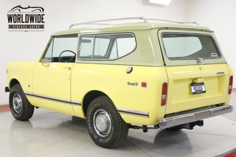 1975 International SCOUT II 347 V8 AUTO A/C PS PB 4X4 FACTORY ROOF RACK | Denver, CO | Worldwide Vintage Autos in Denver, CO