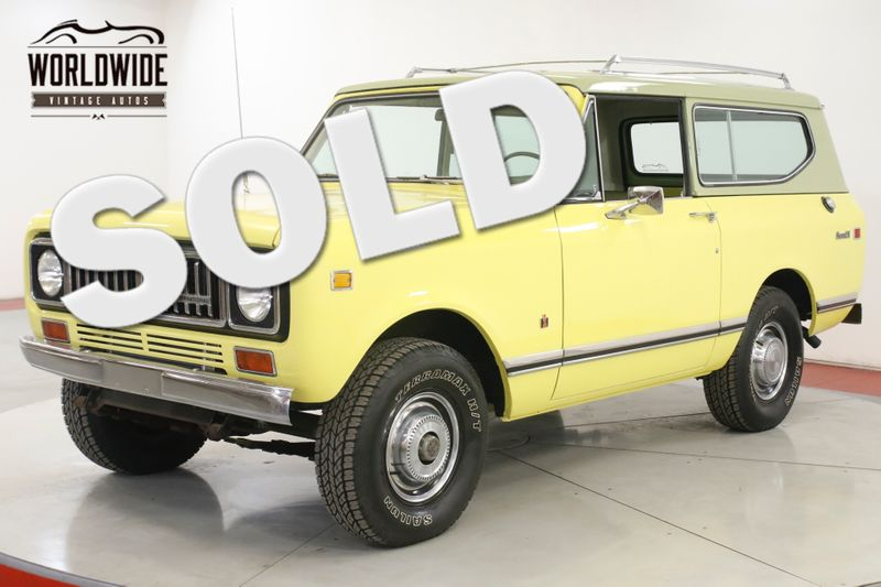 1975 International SCOUT II 347 V8 AUTO A/C PS PB 4X4 FACTORY ROOF RACK | Denver, CO | Worldwide Vintage Autos