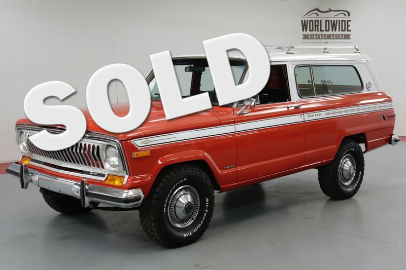 1975 Jeep CHEROKEE ONE OF A KIND. RARE! | Denver, CO | Worldwide Vintage Autos