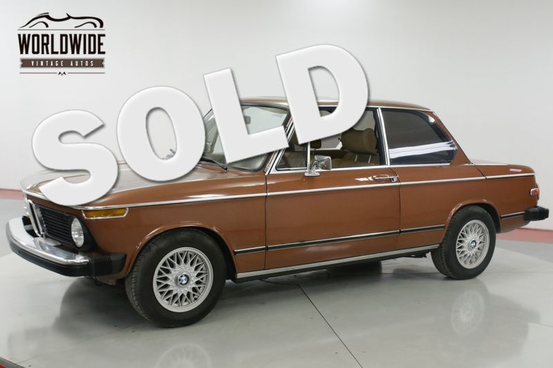 1976 BMW 2002 EXCELLENT CONDITION FACTORY AC & SUNROOF | Denver, CO | Worldwide Vintage Autos