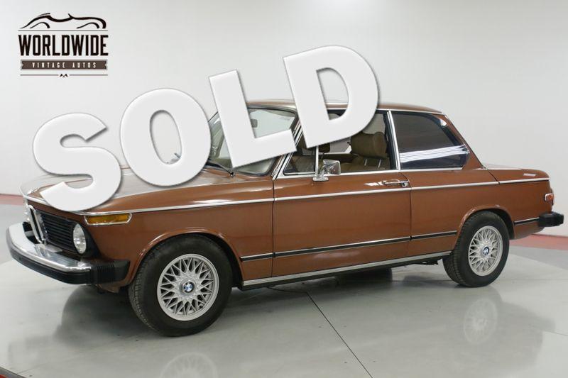 1976 BMW 2002 EXCELLENT CONDITION FACTORY AC & SUNROOF   Denver, CO   Worldwide Vintage Autos