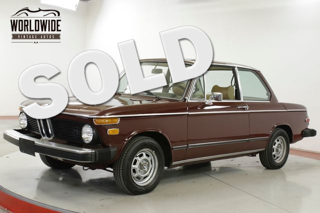 1976 BMW 2002 1900 CC 52K ACTUAL MI SUNROOF FRONT DISC  | Denver, CO | Worldwide Vintage Autos in Denver CO