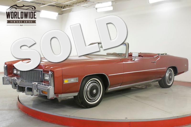 1976 Cadillac ELDORADO  CONVERTIBLE AC 85K ORIGINAL MILES COLLECTOR | Denver, CO | Worldwide Vintage Autos