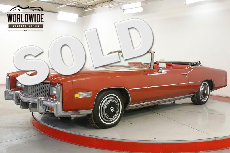 1976 Cadillac EL DORADO COLLECTOR 500 V8 NEW INTERIOR GARAGE KEPT | Denver, CO | Worldwide Vintage Autos