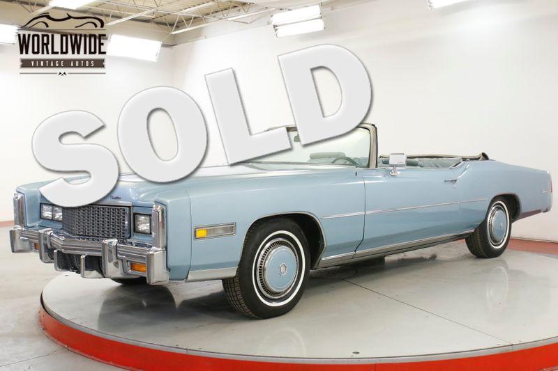 1976 Cadillac ELDORADO CONVERTIBLE PS PB A/C   Denver, CO   Worldwide Vintage Autos