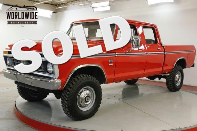 1976 Ford F-250 390 V8 AUTO RESTORED 4X4 PS PB A/C VERY RARE  | Denver, CO | Worldwide Vintage Autos in Denver CO
