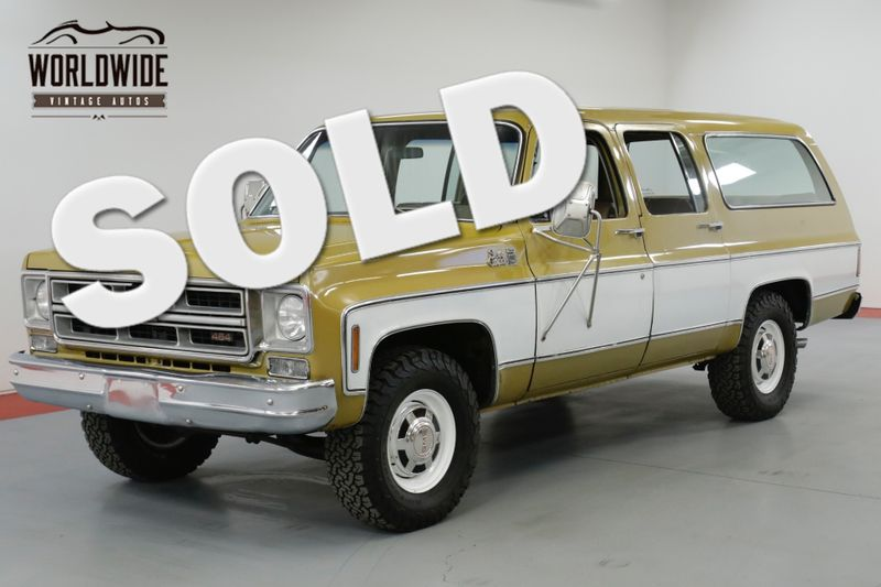 1976 GMC SUBURBAN RARE COLLECTOR TIME CAPSULE  | Denver, CO | Worldwide Vintage Autos