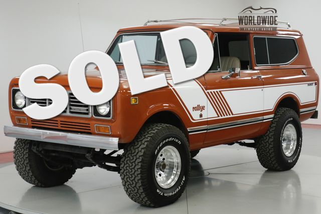 1976 International SCOUT  RALLYE. HIGH DOLLAR RESTORATION. COLLECTOR  | Denver, CO | Worldwide Vintage Autos in Denver CO