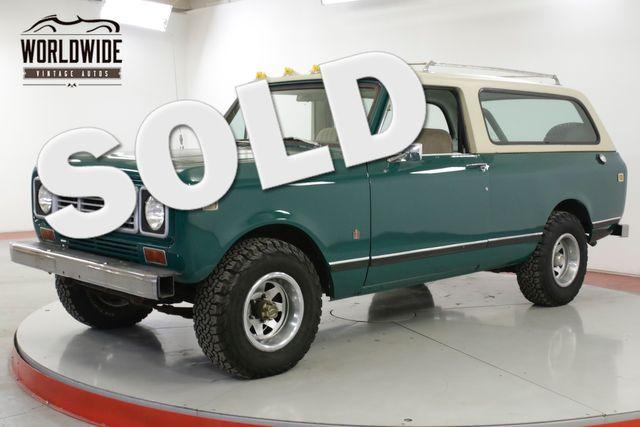1976 International TRAVELER SCOUT 4x4 CONVERTIBLE AUTO AC!! V8 PS PB  | Denver, CO | Worldwide Vintage Autos in Denver CO