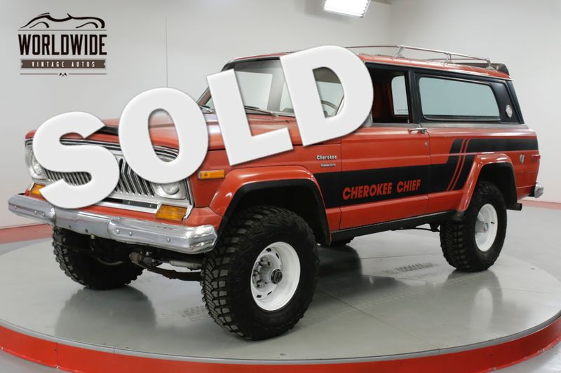 1976 Jeep CHEROKEE CHIEF RARE Z CODE 401 V8 COLLECTOR MODERN AC    Denver, CO   Worldwide Vintage Autos