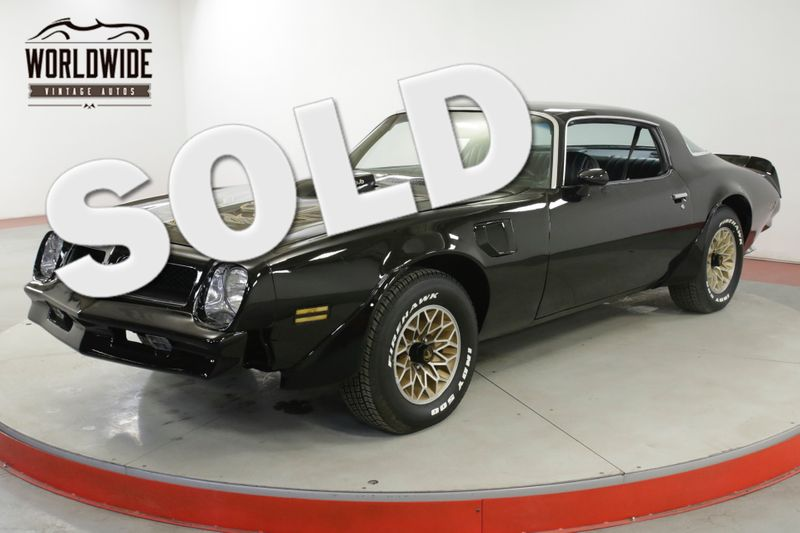 1976 Pontiac TRANS AM RARE 4 SPEED BLACK/BLACK V8 NEW PAINT BANDIT | Denver, CO | Worldwide Vintage Autos