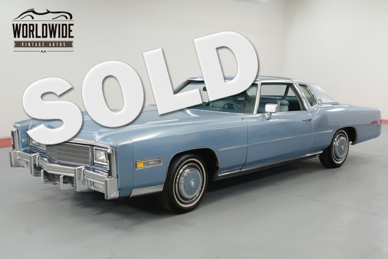 1977 Cadillac ELDORADO LOW ACTUAL MILES  | Denver, CO | Worldwide Vintage Autos
