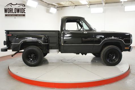 1977 Dodge POWER WAGON 4x4 V8 PS PB SHORTBED RARE WARLOCK EDITION | Denver, CO | Worldwide Vintage Autos in Denver, CO