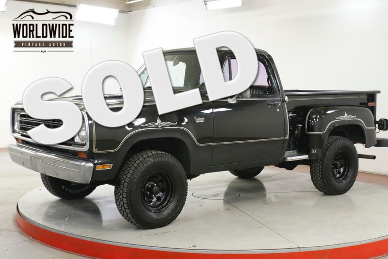 1977 Dodge POWER WAGON 4x4 V8 PS PB SHORTBED RARE WARLOCK EDITION | Denver, CO | Worldwide Vintage Autos