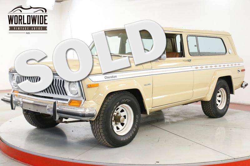 1977 Jeep CHEROKEE CHIEF 4X4 PS PB AC RARE FACTORY 401 V8   | Denver, CO | Worldwide Vintage Autos