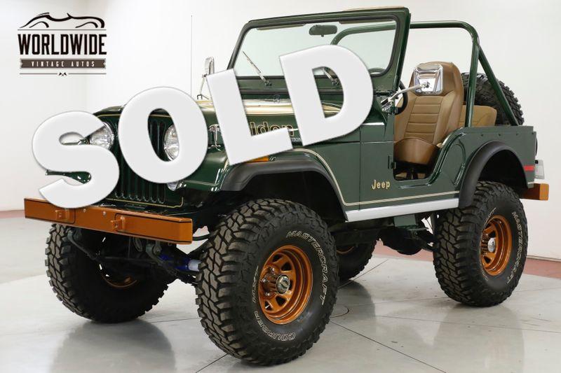 1977 Jeep CJ5 RESTORED GOLDEN EAGLE 4X4 V8 PS PB COLLECTOR  | Denver, CO | Worldwide Vintage Autos