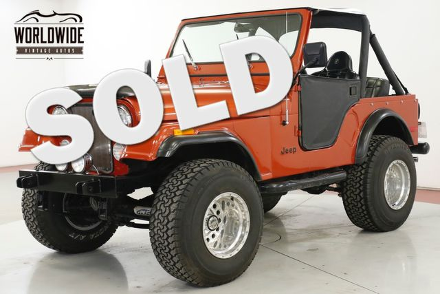 1977 Jeep CJ5 4X4 304 V8 PS PB CONVERTIBLE LIFT AZ TRUCK  | Denver, CO | Worldwide Vintage Autos in Denver CO