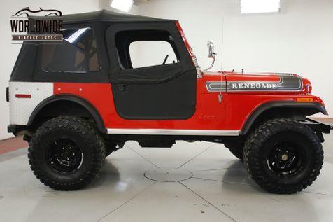 1976 Jeep CJ7 RENEGADE 304 PS CONVERTIBLE TOP 33 INCH TIRES  | Denver, CO | Worldwide Vintage Autos in Denver, CO