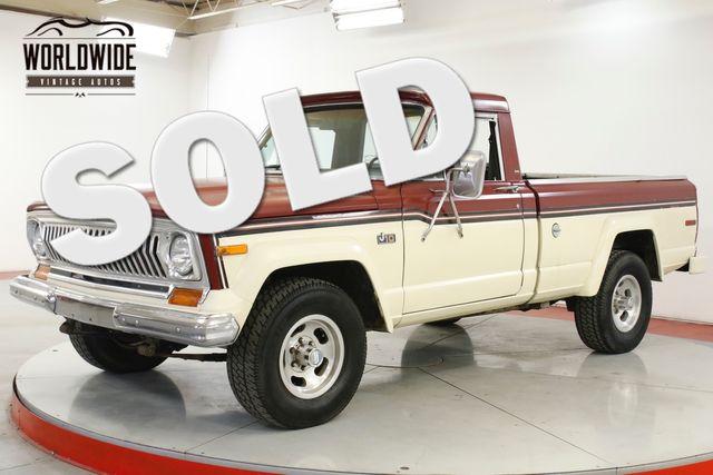 1977 Jeep J10 TRUCK COLLECTOR GRADE4x4 V8 51K MI 1OWNER  | Denver, CO | Worldwide Vintage Autos in Denver CO