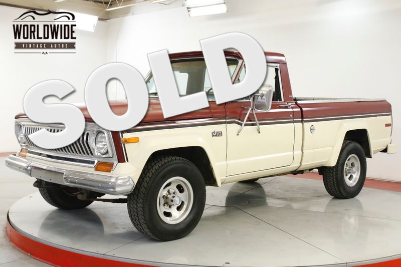 1977 Jeep J10 TRUCK COLLECTOR GRADE4x4 V8 51K MI 1OWNER  | Denver, CO | Worldwide Vintage Autos
