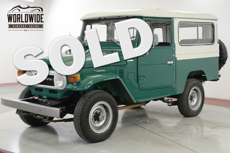 1977 Toyota LAND CRUISER FJ43  | Denver, CO | Worldwide Vintage Autos