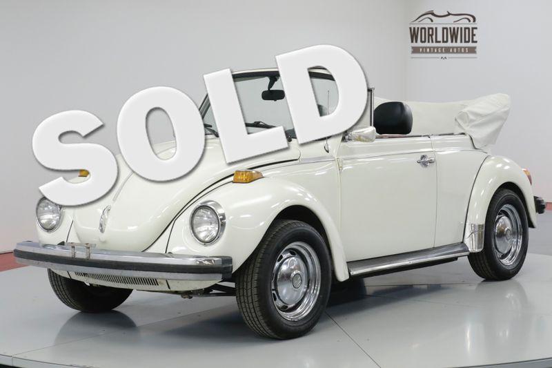 1977 Volkswagen BEETLE BUG. CONVERTIBLE. COLLECTOR. 42K ORIGINAL! | Denver, CO | Worldwide Vintage Autos