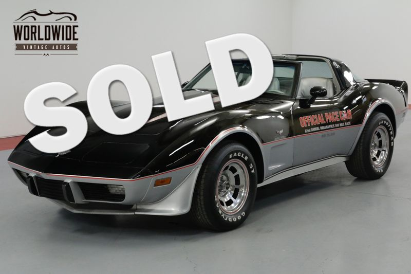 1978 Chevrolet CORVETTE INDY PACE CAR. 9K MILES COLLECTOR GRADE  | Denver, CO | Worldwide Vintage Autos
